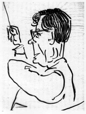 Lisl Steiner Sketch of Karl Bohm