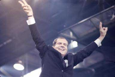 Richard Nixon 1968    - copyright Lisl Steiner