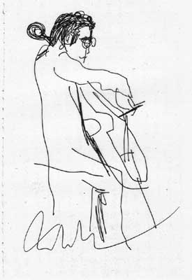 Lisl Steiner Sketch of Yo Yo Ma