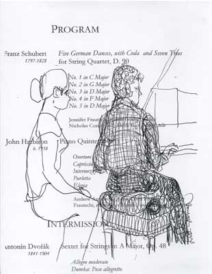 Lisl Steiner Sketch of Young Woman Turning Pages